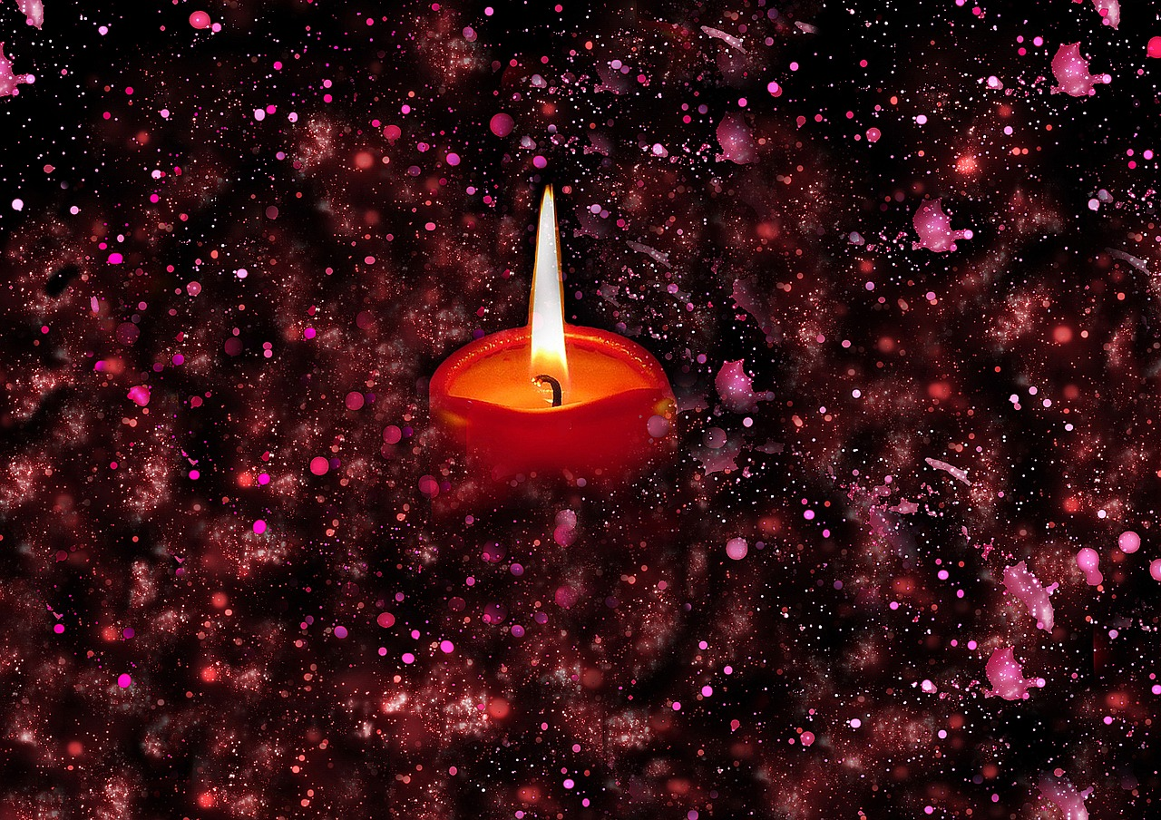 candle sparkles candlelight free photo
