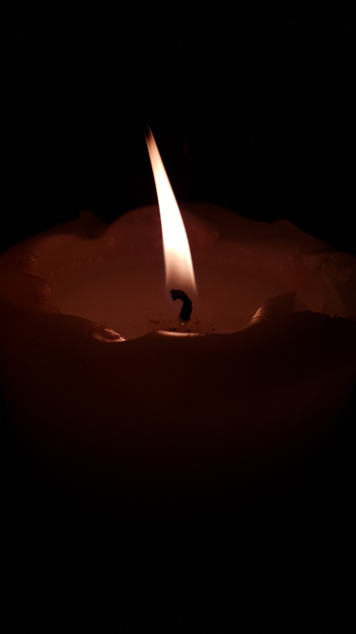 candle wick candlelight free photo