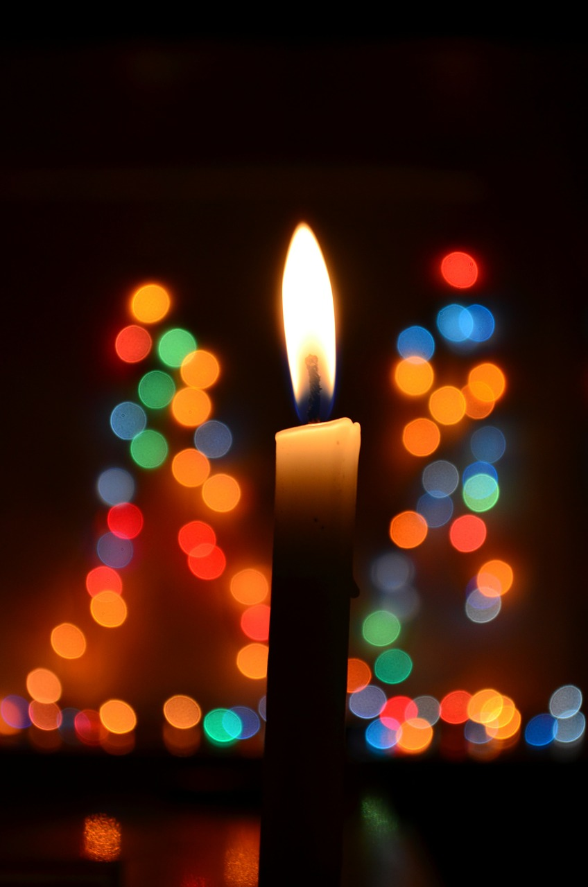 candle bokeh lights free photo
