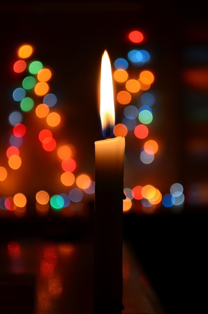candle bokeh christmas free photo
