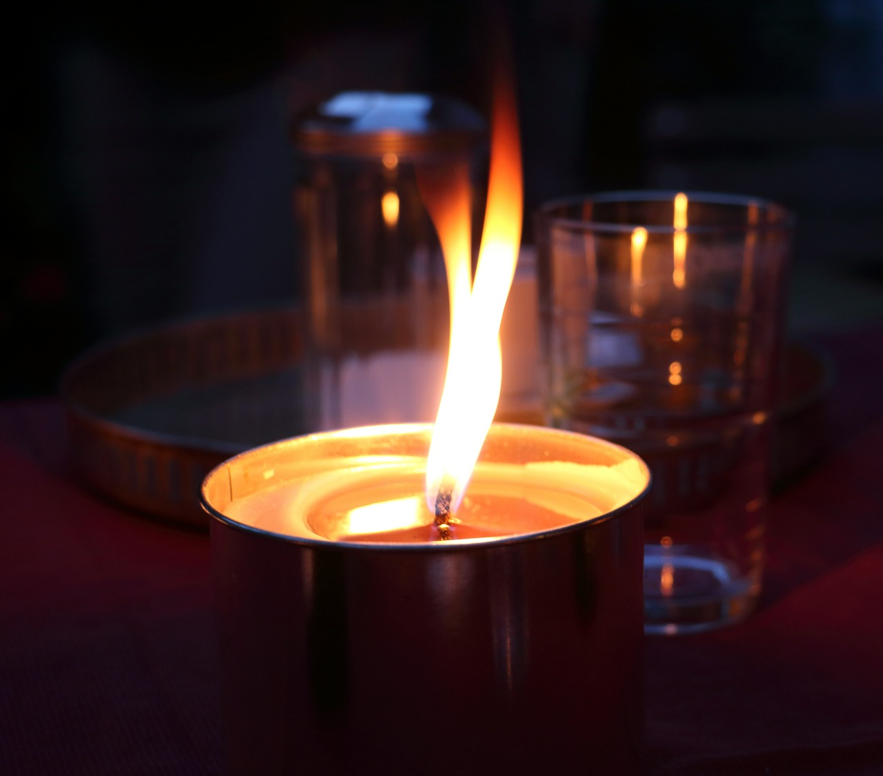 candle romance atmosphere free picture