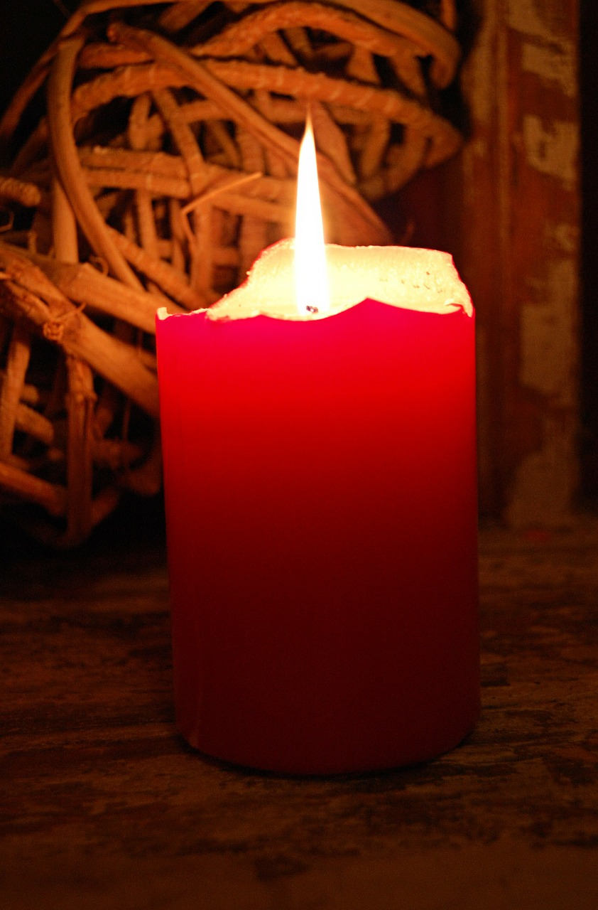 candle light red free photo