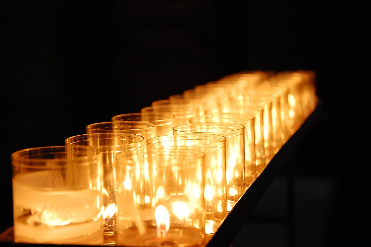 candles light church free photo