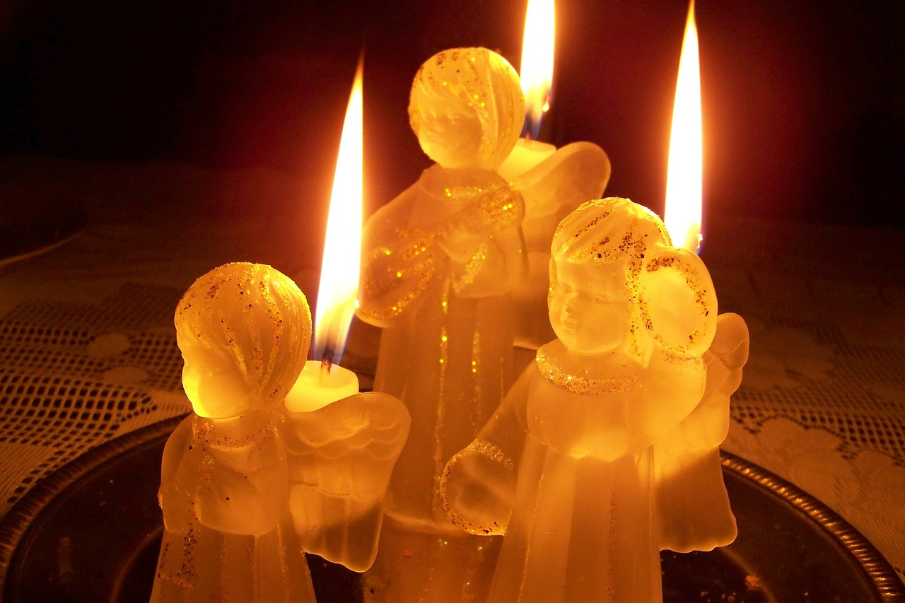 candles angel candlestick free photo