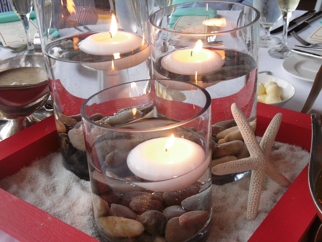 candles table setting dining free photo