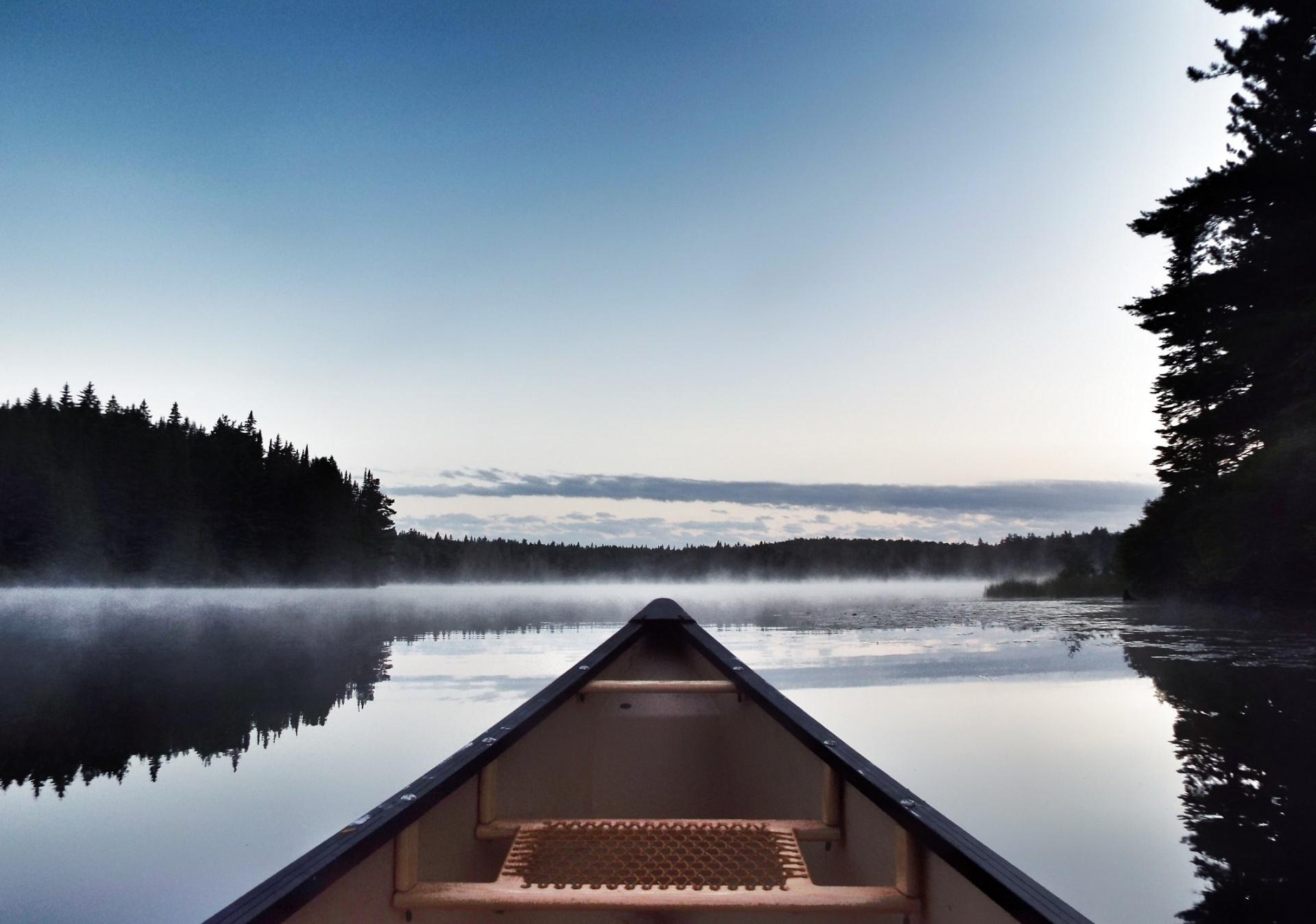 Canoe,mist,morning,landscape,water - free image from needpix.com