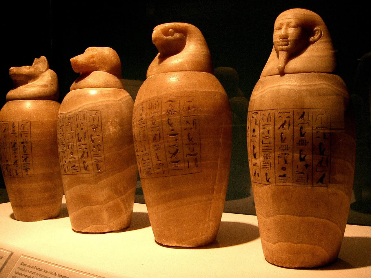 canopic jars egypt egyptian free photo