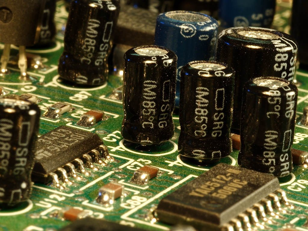 capacitors electronics board free photo
