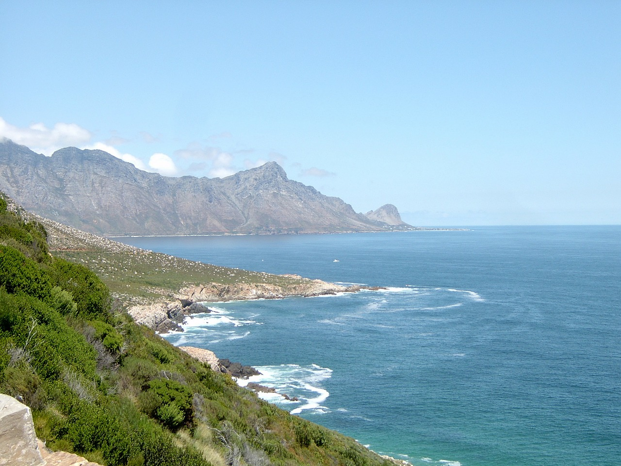cape town beach coast free photo
