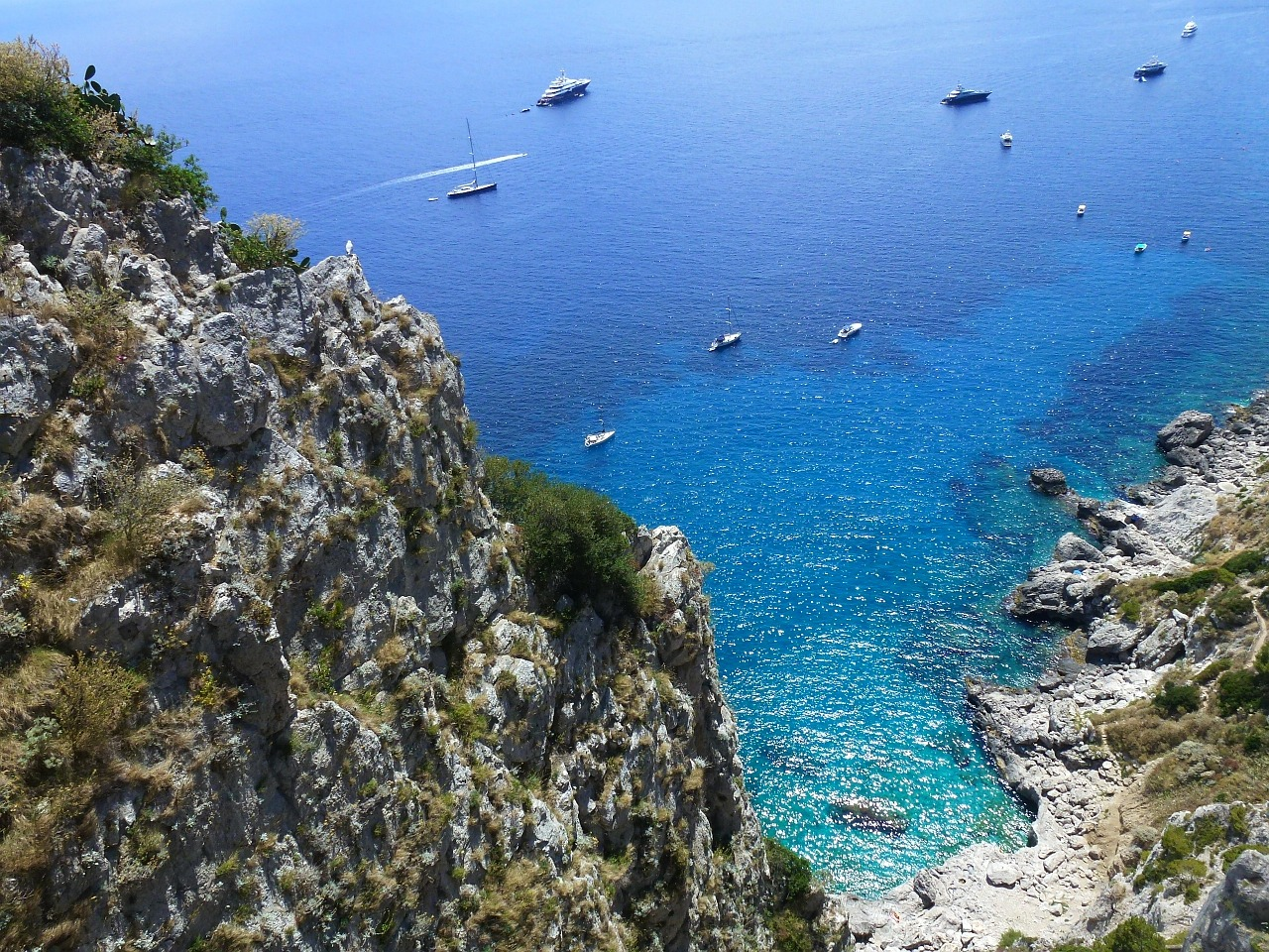 capri blue a sea of free photo