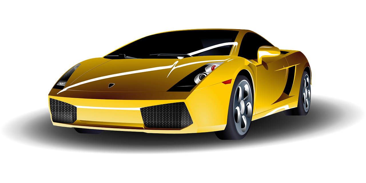 car yellow sports free photo