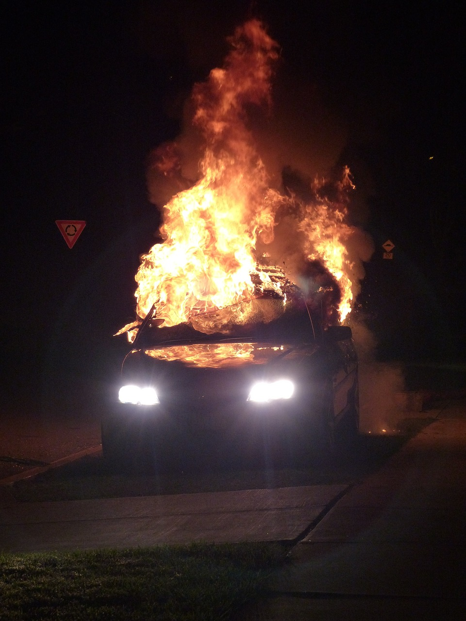car bomb fire bomb car accident free photo