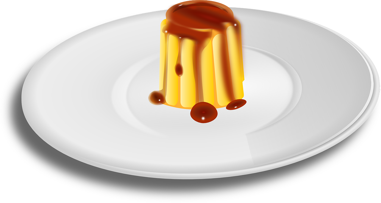 caramel,creme,custard,dessert,dish,food,plate,pudding,sweet,yummy,free vector graphics,free pictures, free photos, free images, royalty free, free illustrations, public domain