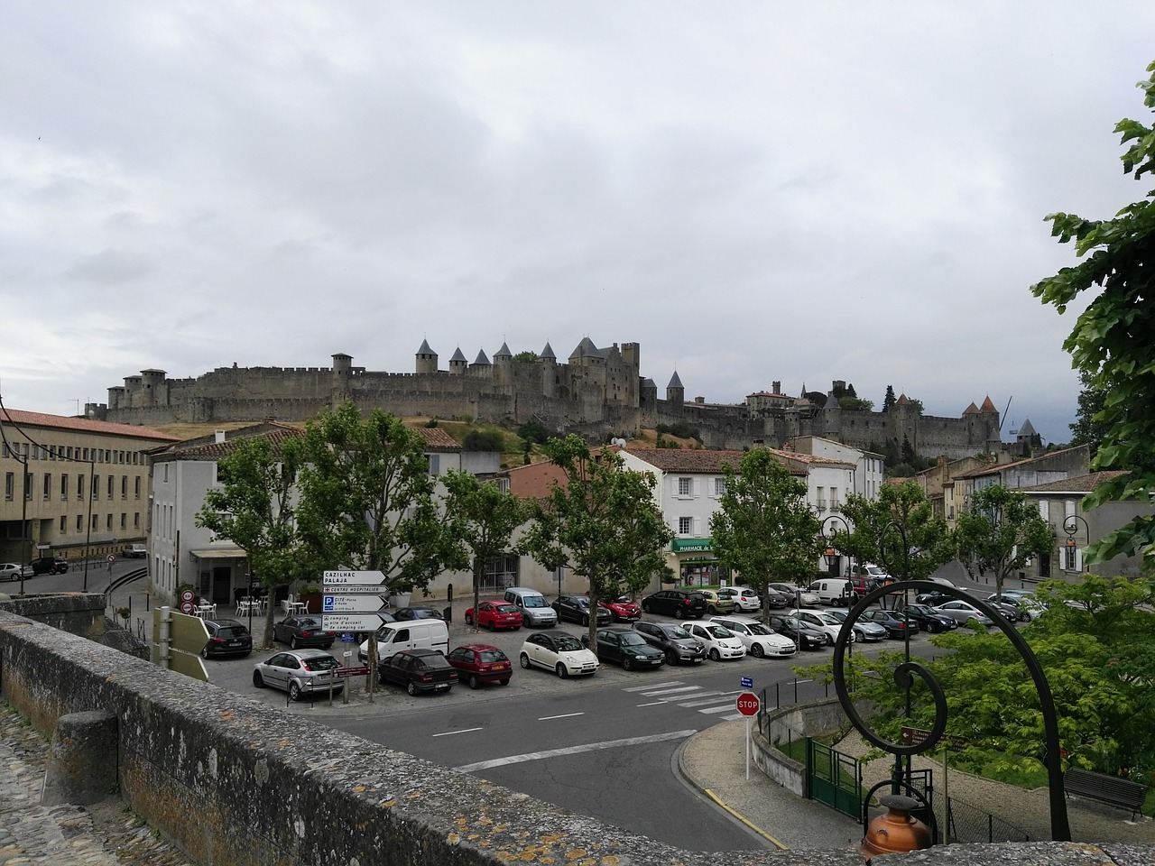 carcassonne medieval city ancient city free photo