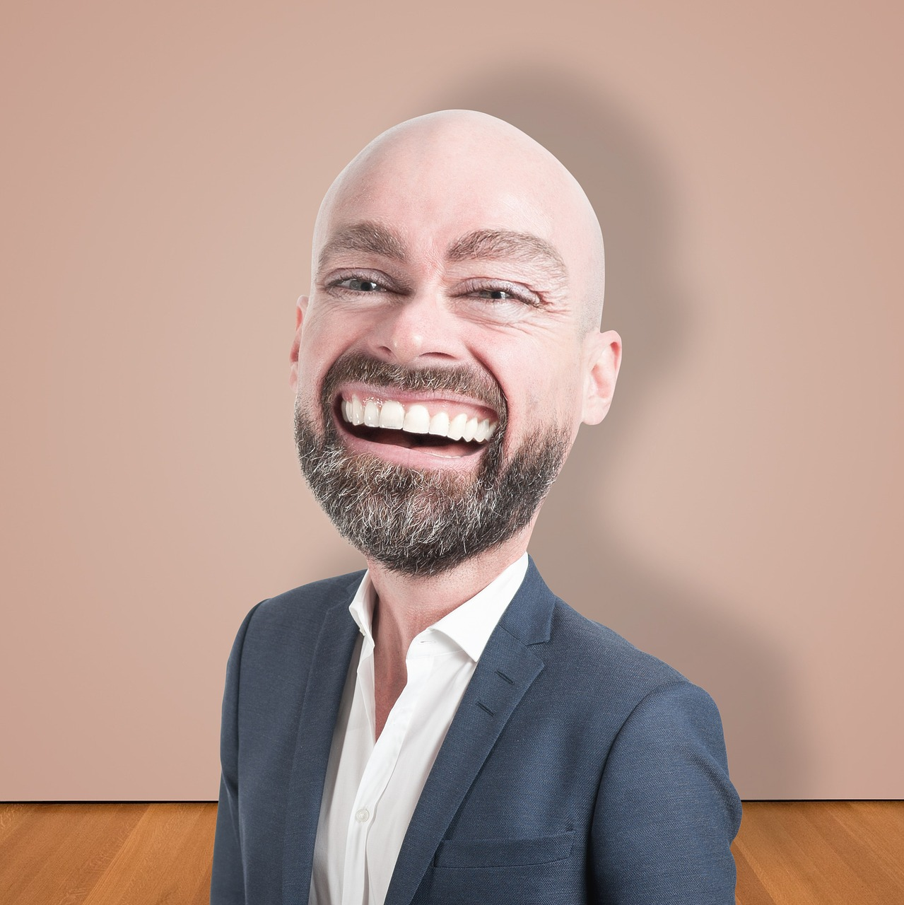 caricature businessman character free photo