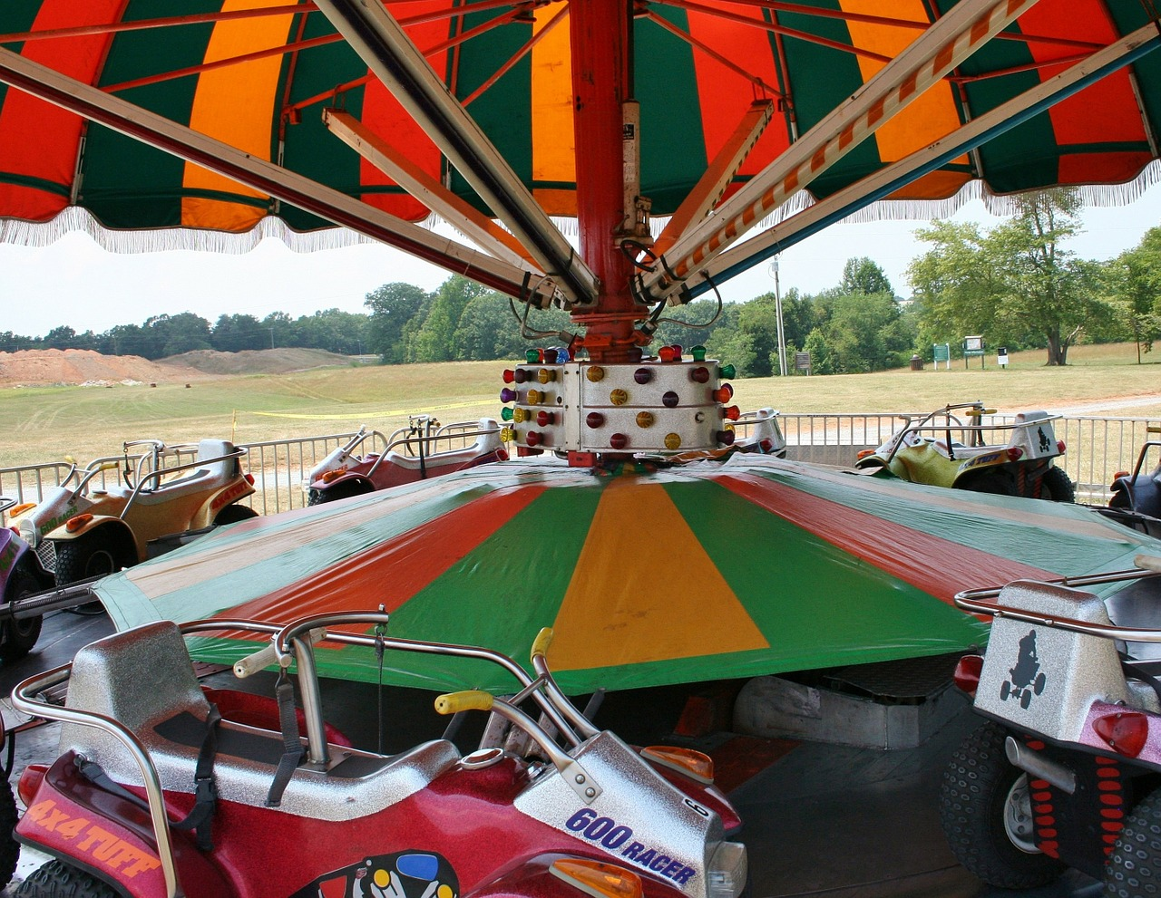 carnival ride carousel cars free photo