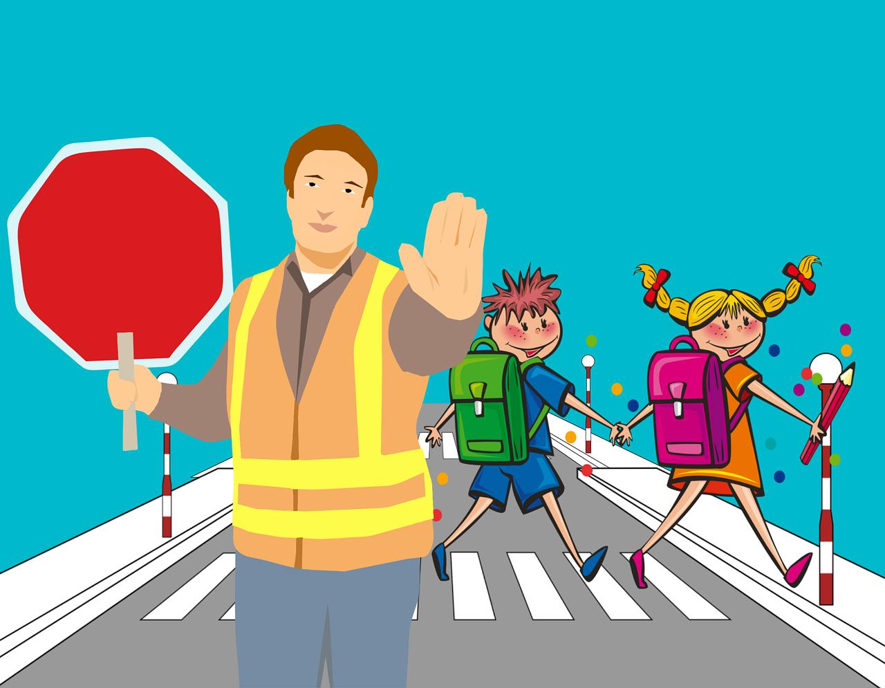 Cartoon,school,road,pedestrian crossing,traffic - free image from ...