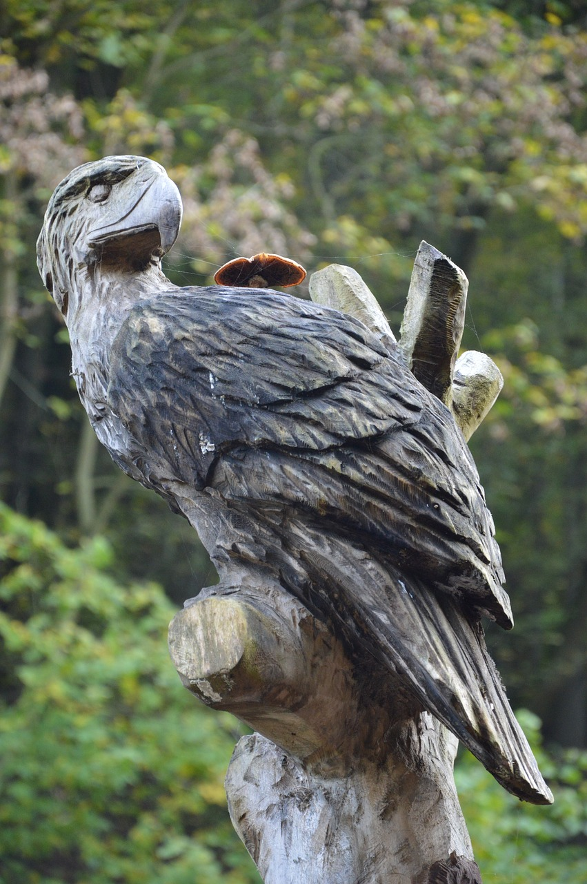 Chainsaw carving of owl at countryfile live blenheim palace