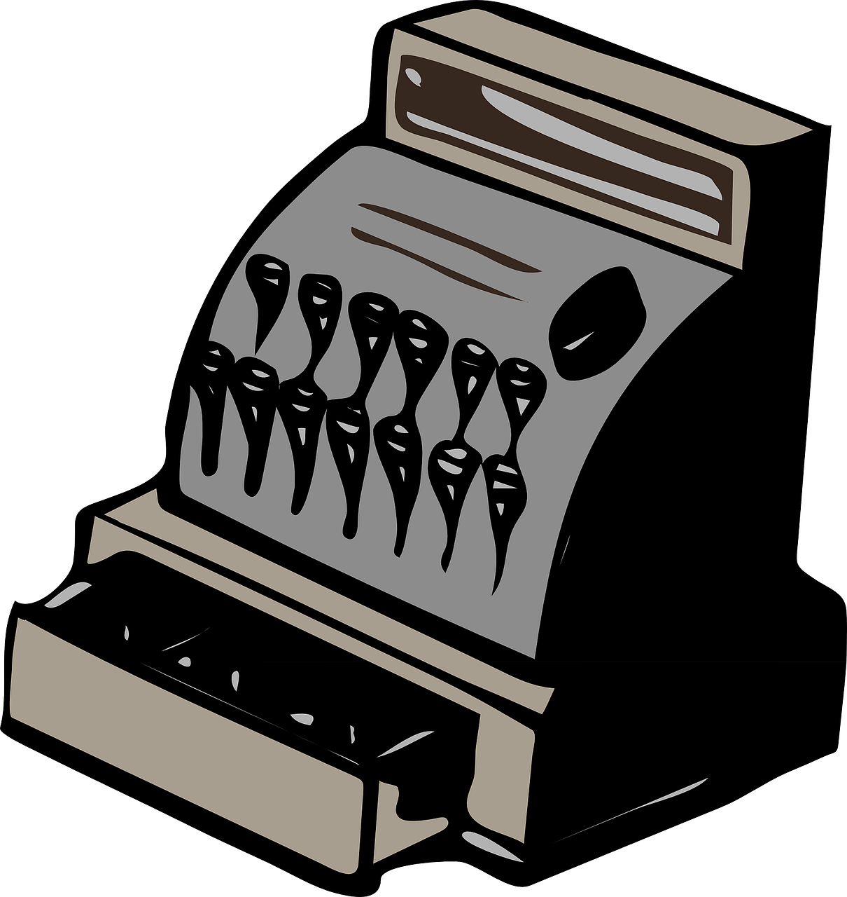 cash register register retro free photo