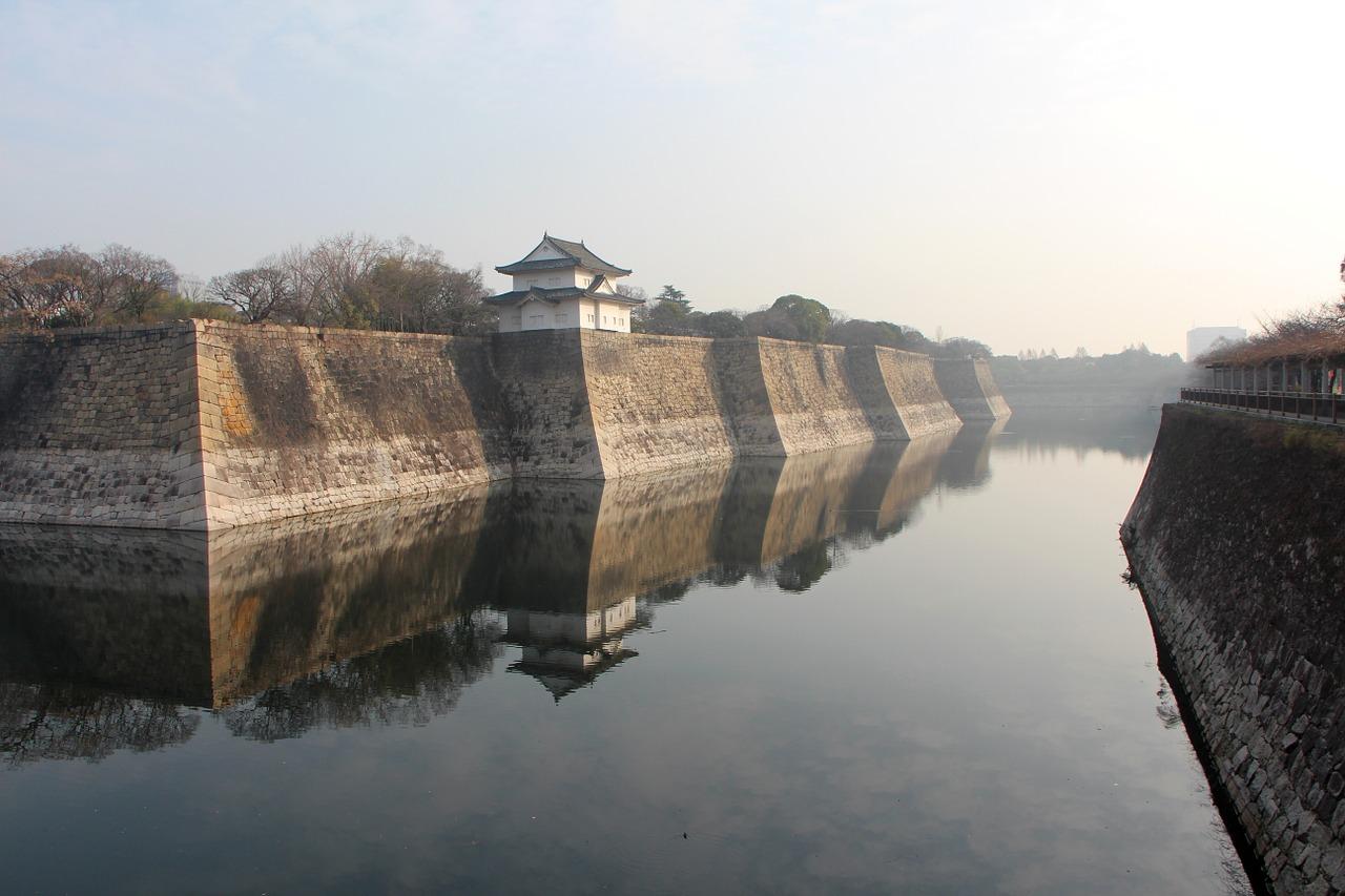 Castle,moat,sluiceway,japan,osaka - free image from needpix.com