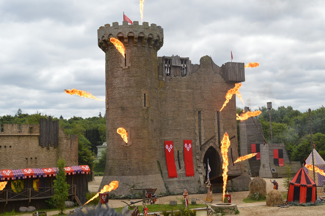 castle fire medieval free photo