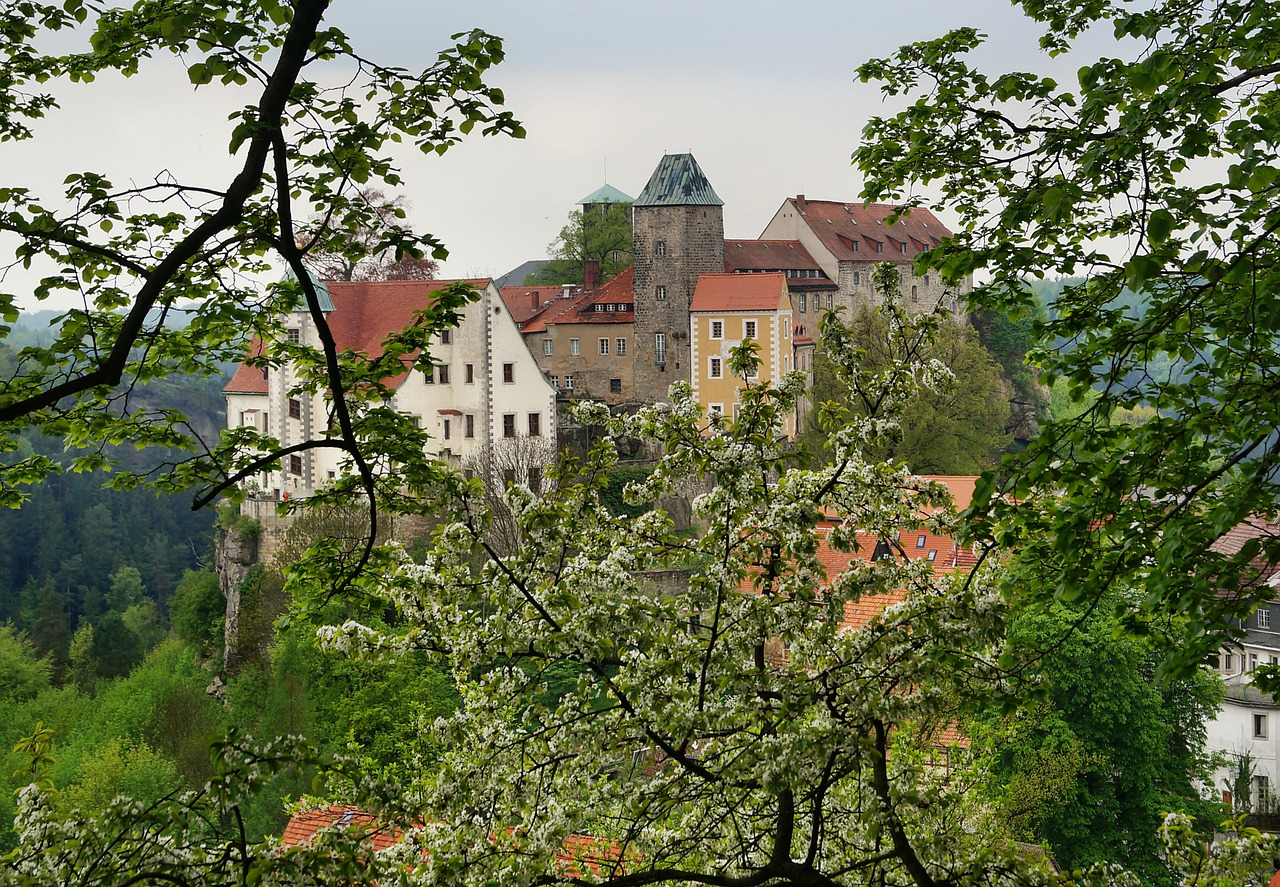 castle hohnstein height burg rock castle free photo