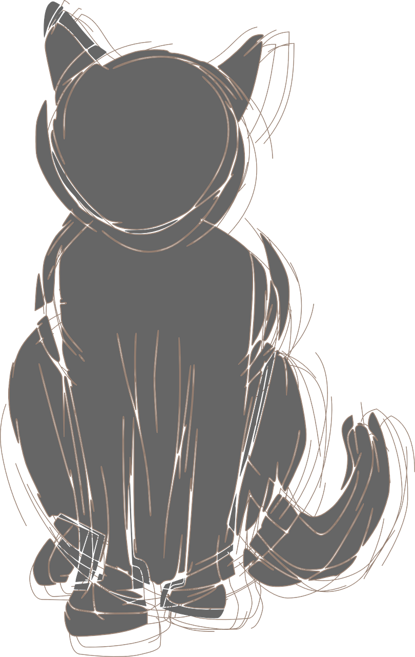 cat,black,pencil,silhouette,basic,sketch,free vector graphics,free pictures, free photos, free images, royalty free, free illustrations, public domain