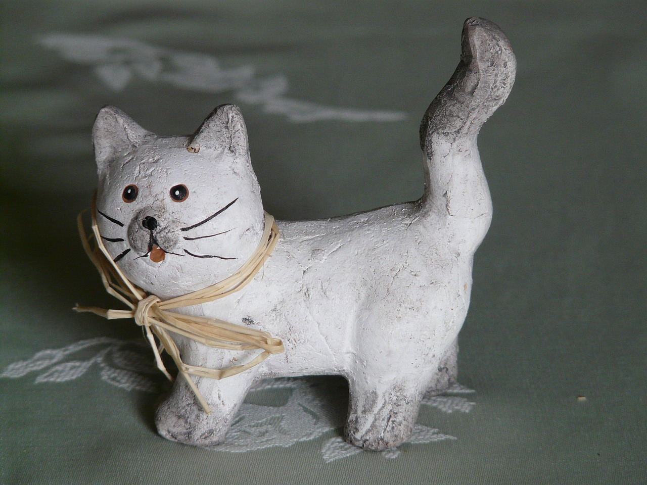 cat deco figure free photo