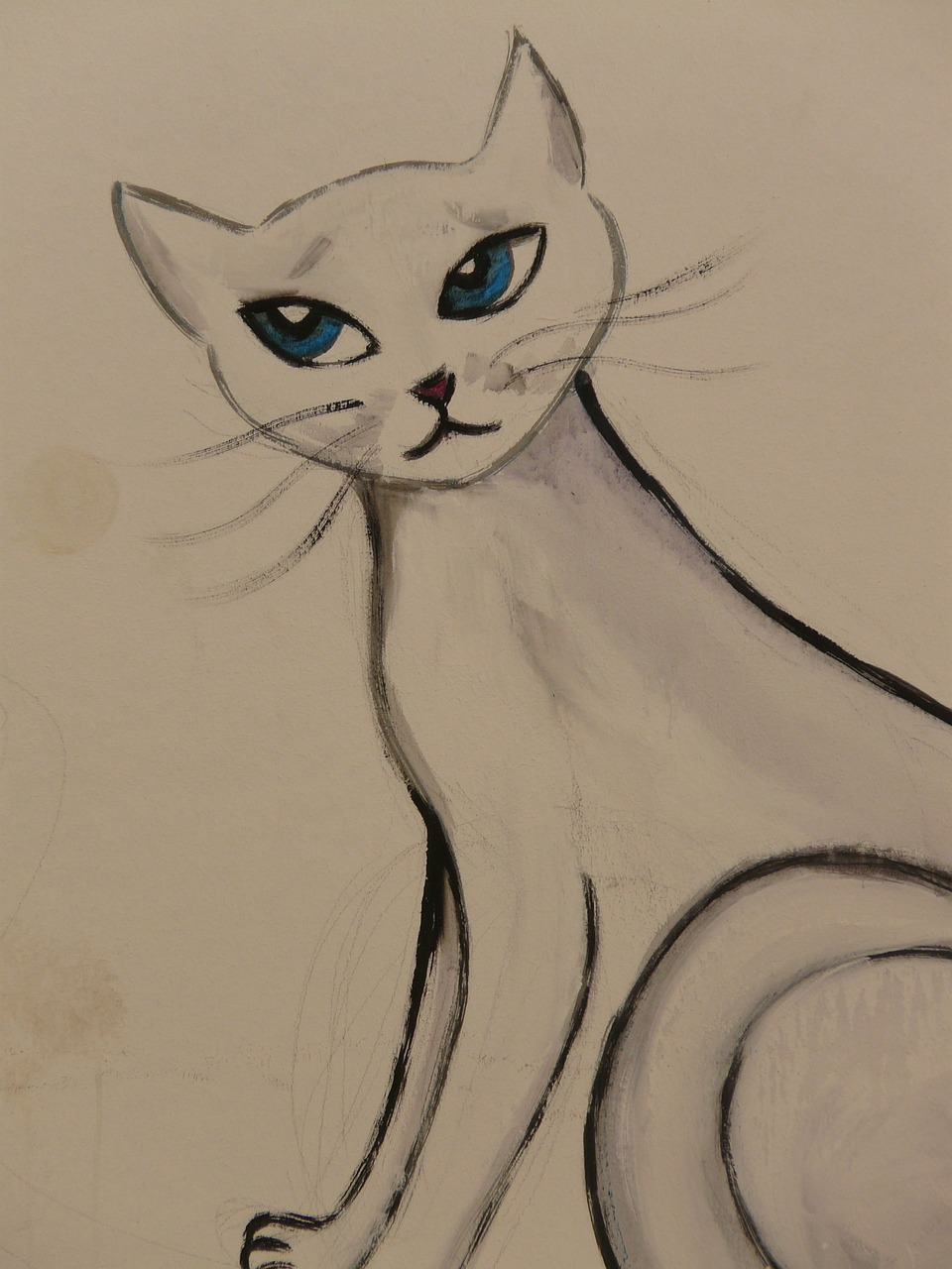 cat drawing image free photo