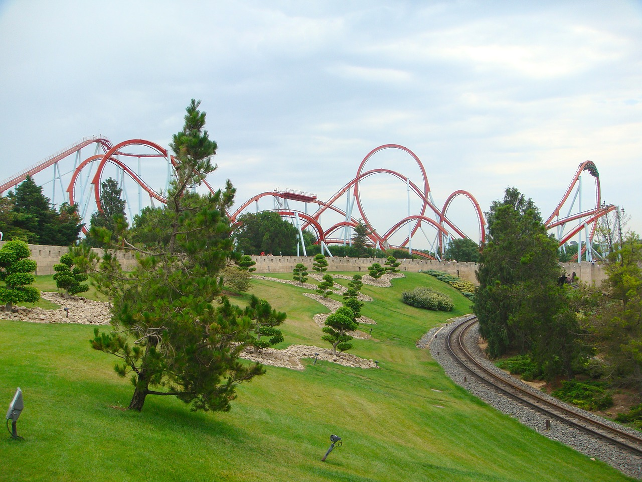 catalonia spain amusement park free photo