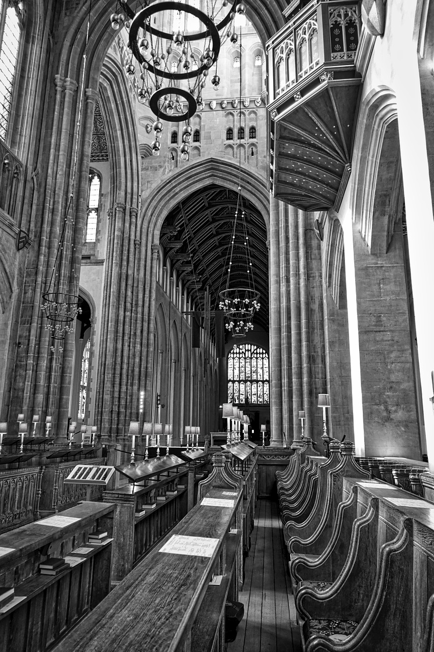 cathedral ceiling arches free photo