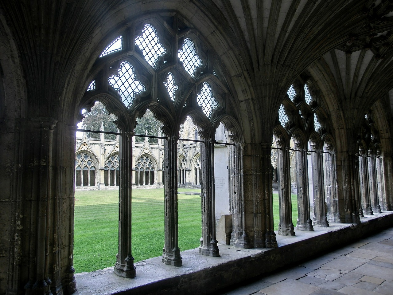 cathedral cloister building free photo