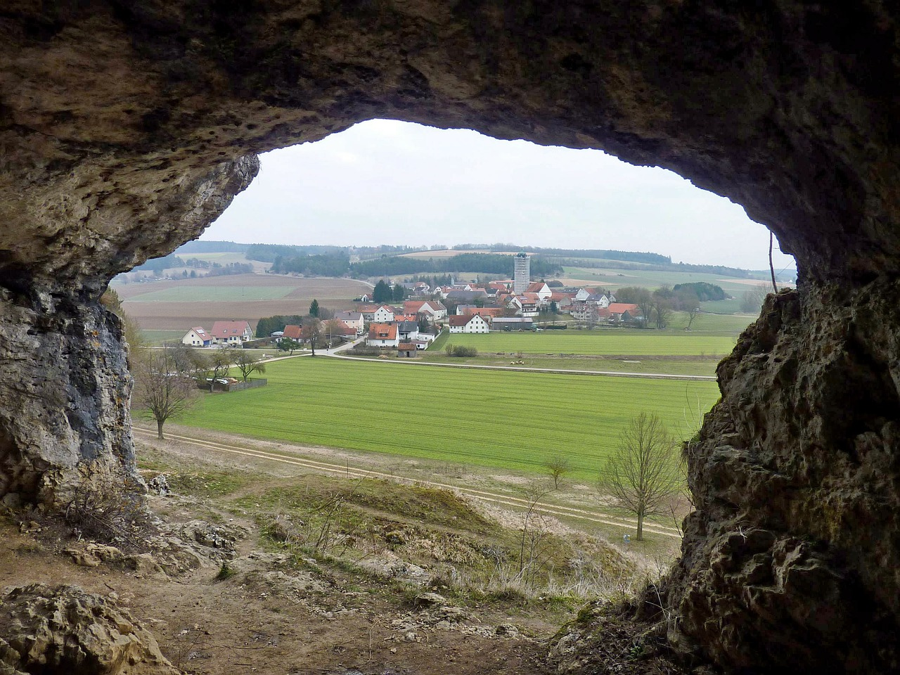 cave hole bavaria free photo