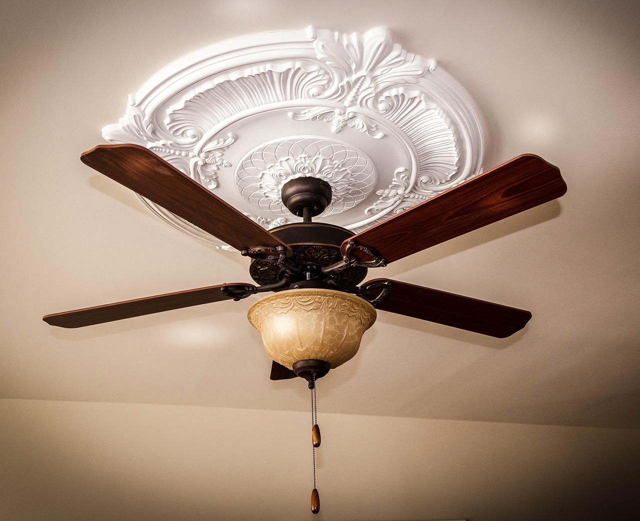 Ceiling Fan Medallion Light Blades Pull Cords Strings