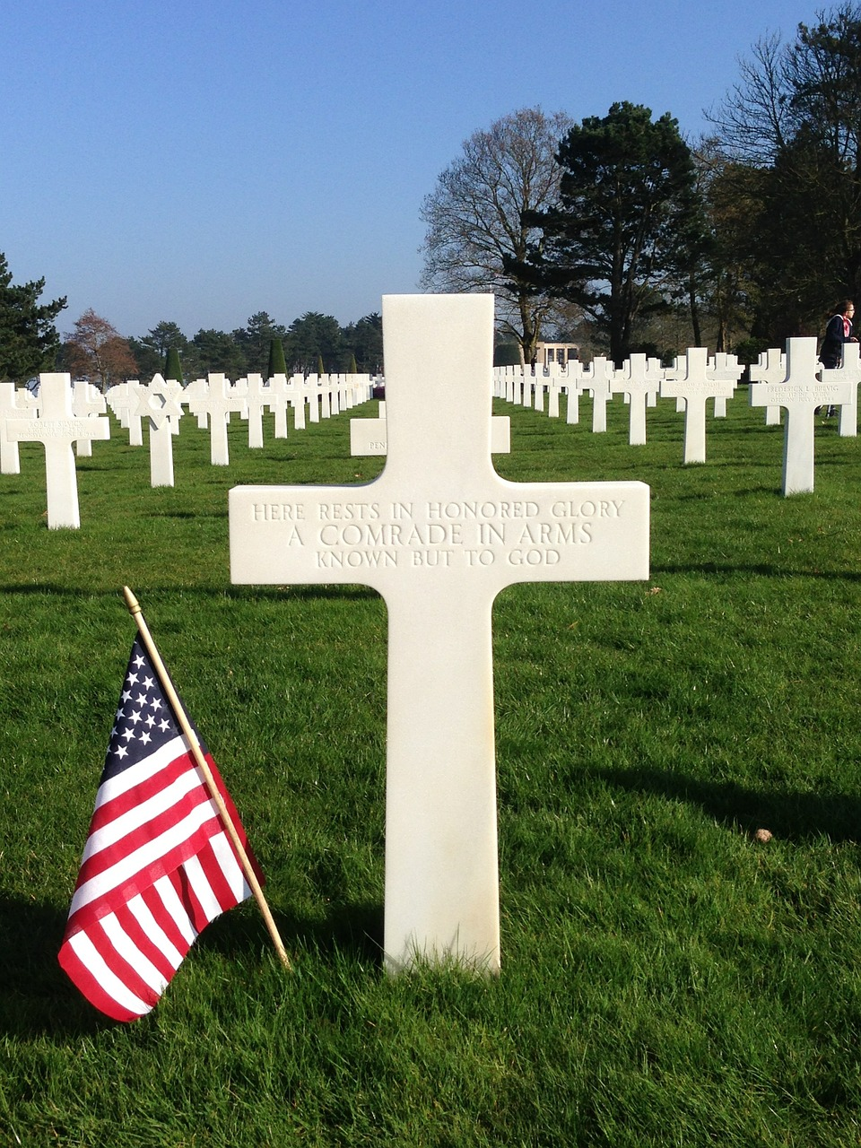 cemetery normandy landing free picture