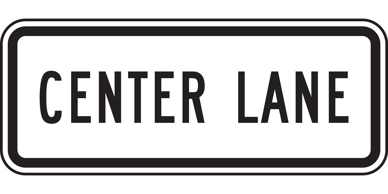 center lane sign free photo