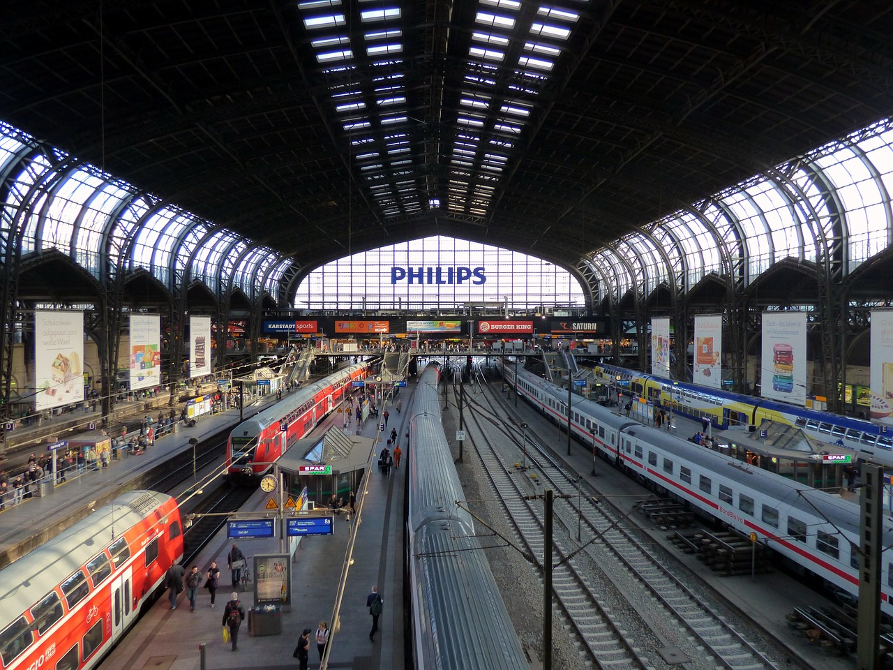 central station hamburg rail traffic free photo
