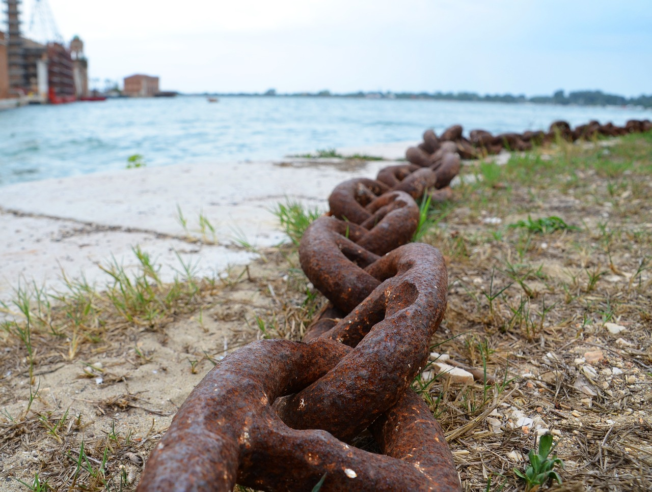 chain links of the chain metal free photo