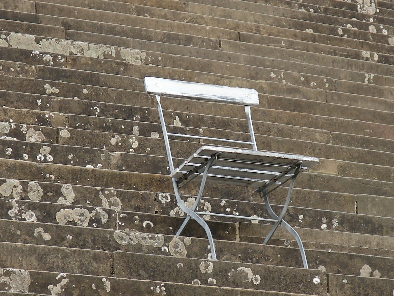 chair folding chair stairs free photo