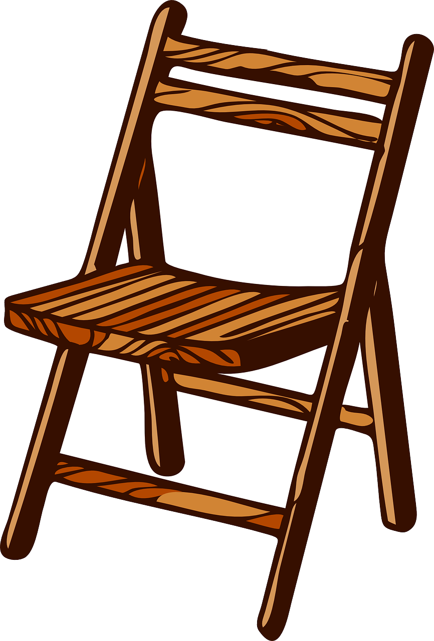 chair wooden folding free photo