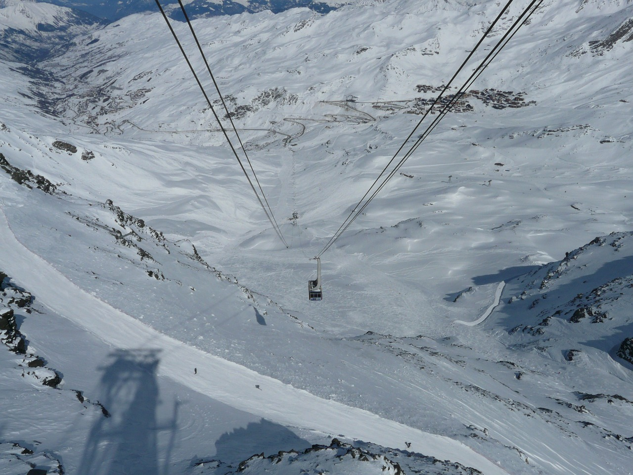 chairlift cable car mountain railway free photo