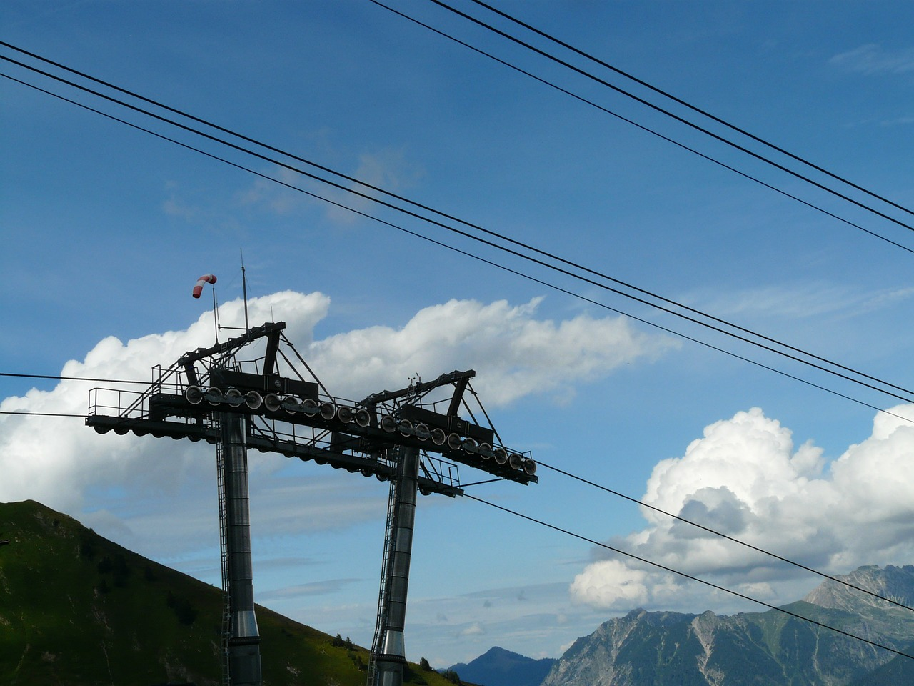 chairlift mast cable car free photo