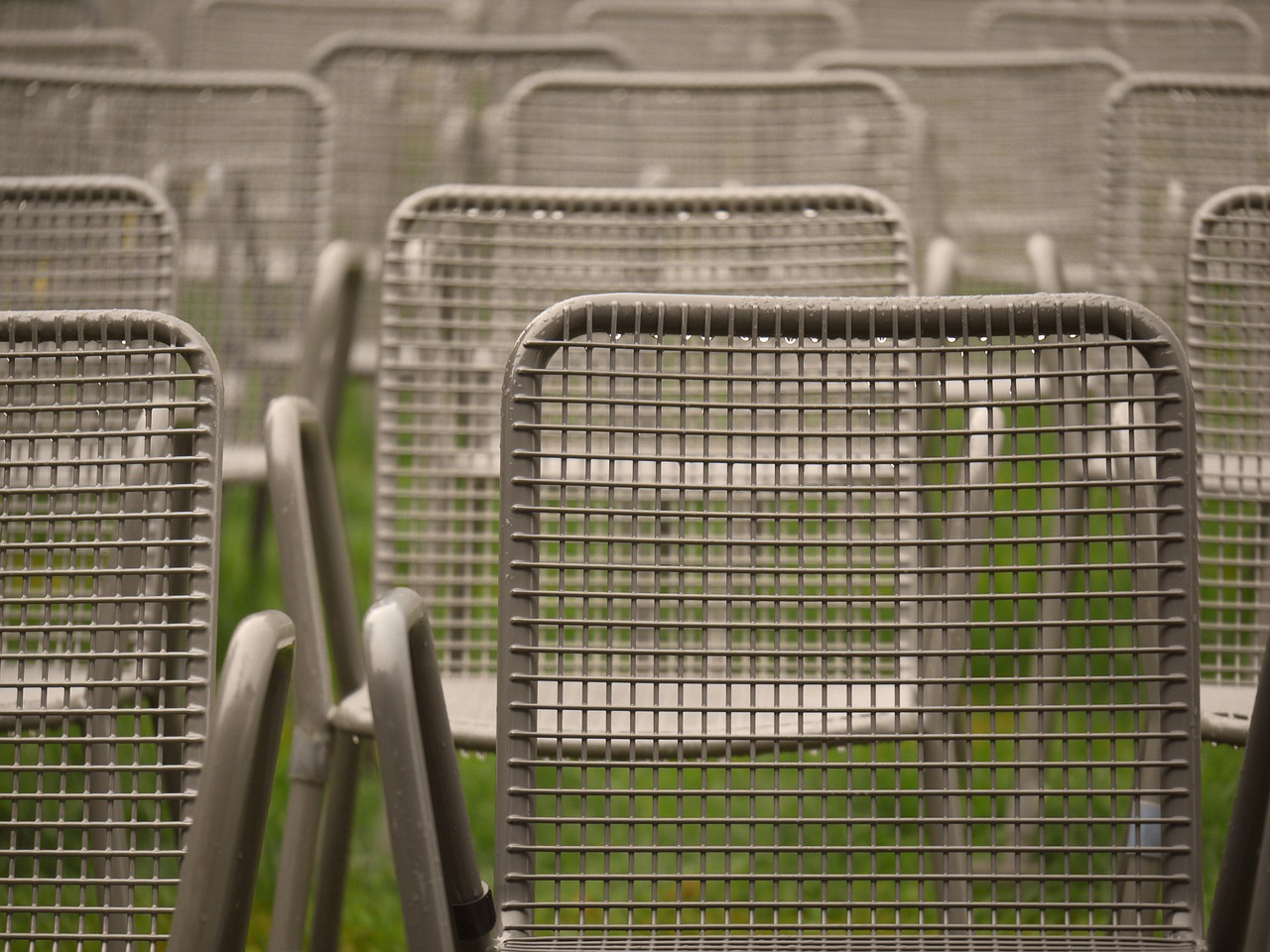 chairs metal event free photo
