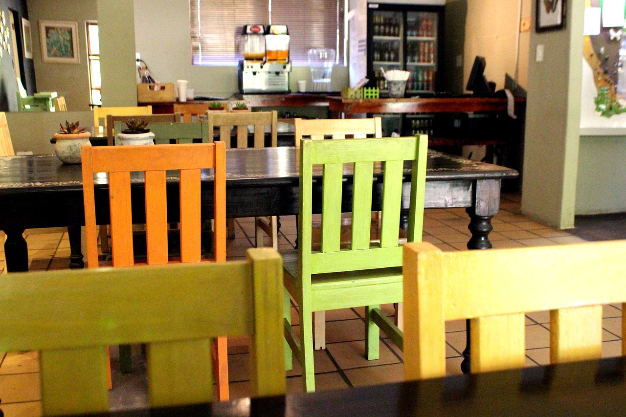 chairs restaurant colorful free photo