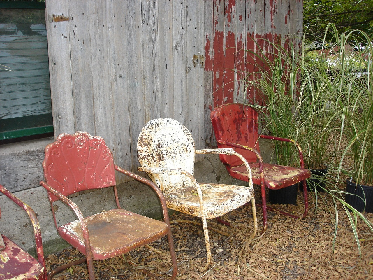 chairs old rustic free photo