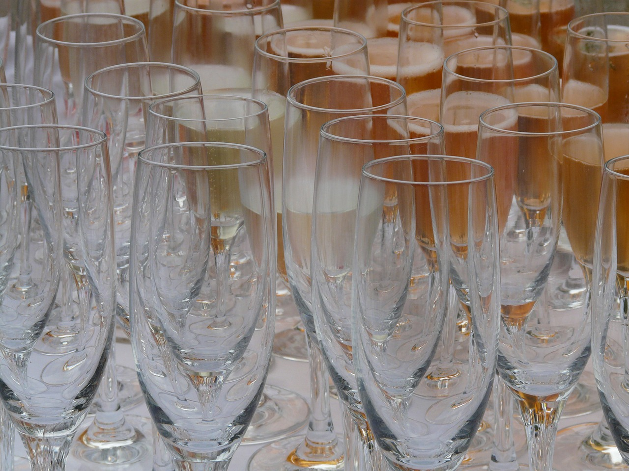 champagne glasses glasses bar free photo