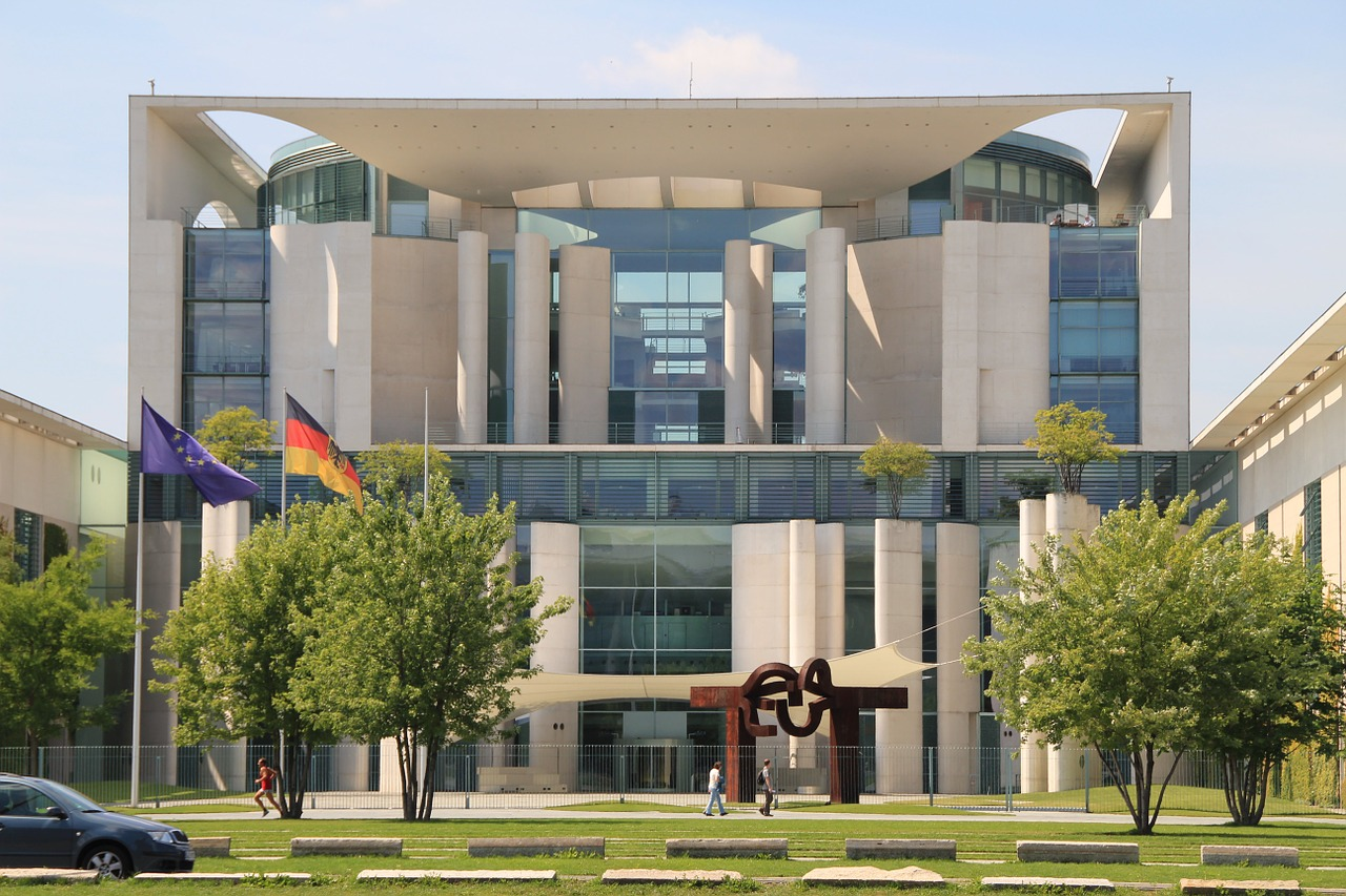chancellery berlin government district free photo