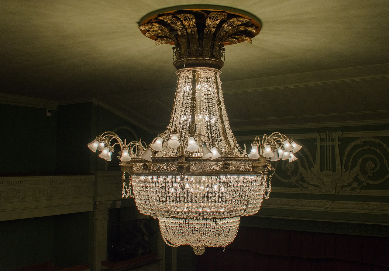 chandelier ceiling headlamps free photo