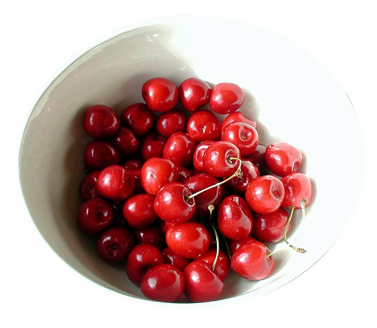 cherries shell fruit bowl free photo