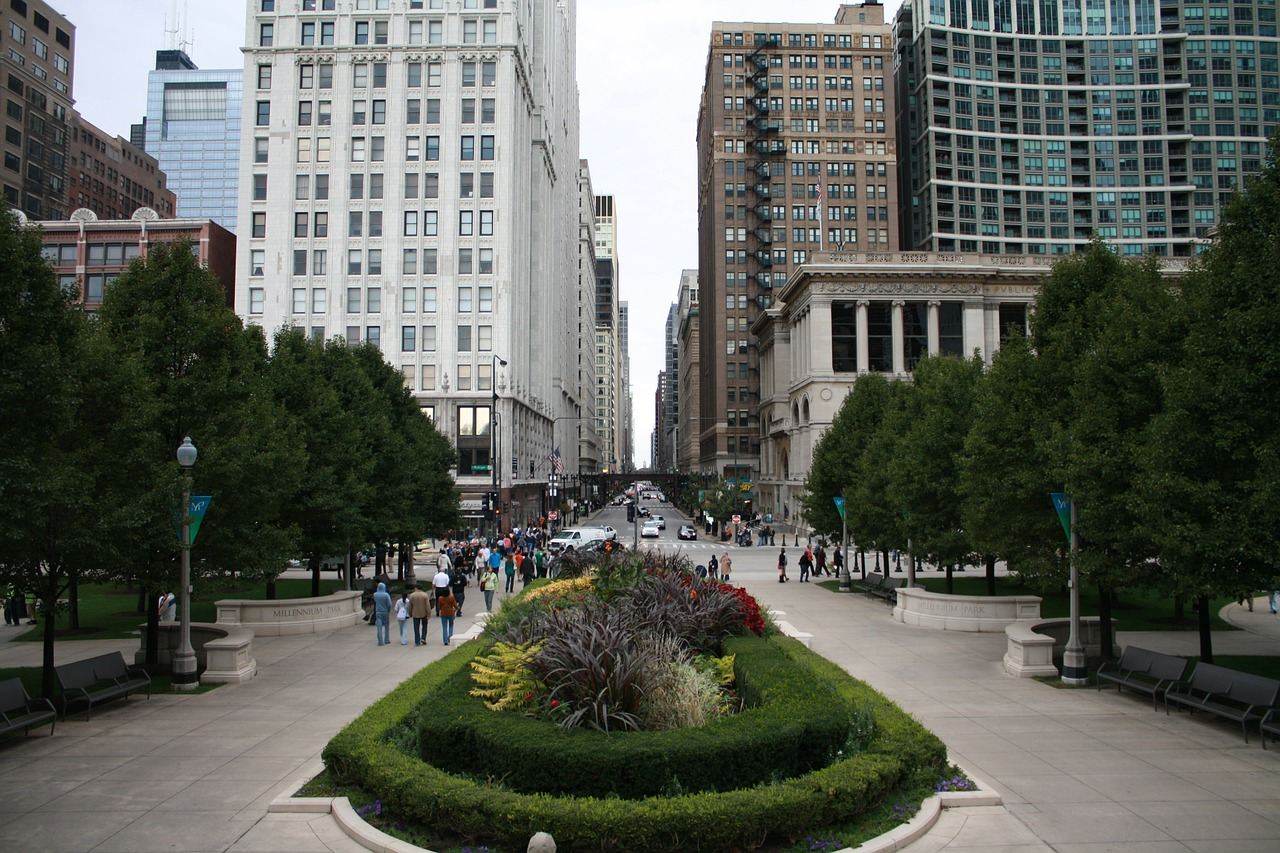 chicago street center free picture